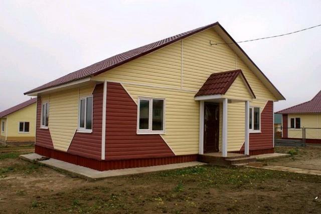 Цветовая гамма сайдинга - образцы обшитых домов в разных цветах 6