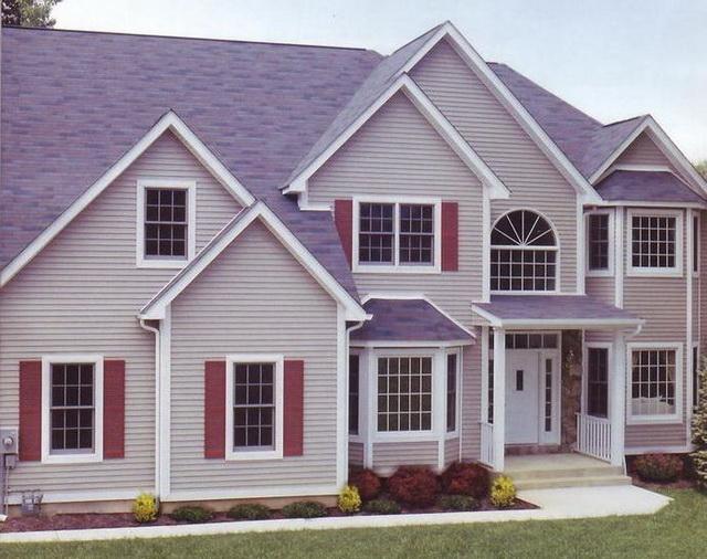 Цветовая гамма сайдинга - образцы обшитых домов в разных цветах 8