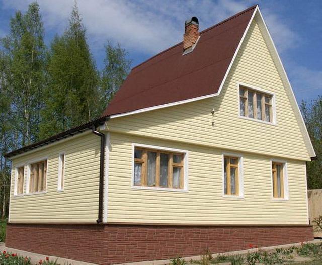 Цветовая гамма сайдинга - образцы обшитых домов в разных цветах 12