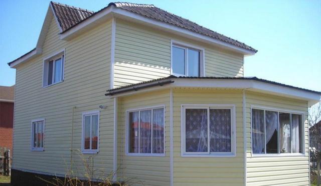 Цветовая гамма сайдинга - образцы обшитых домов в разных цветах 18