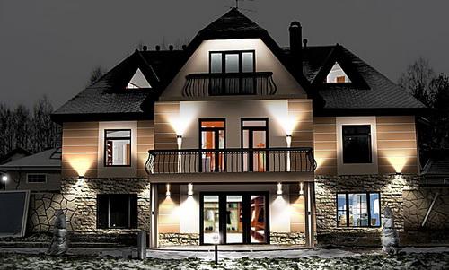 Подсветка дома снаружи своими руками