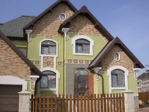 Покраска фасада дома 2