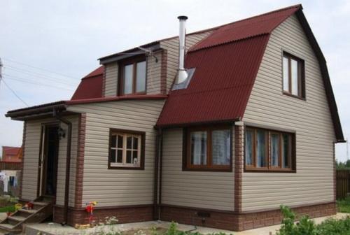 Самая дешевая отделка фасада дома 1