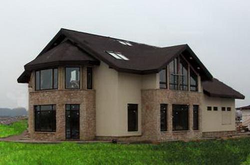 Готовые проекты домов таунхаусов на 3 и 4 семьи эконом класса