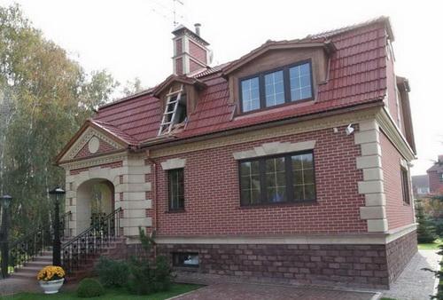 Самая дешевая отделка фасада дома кирпич