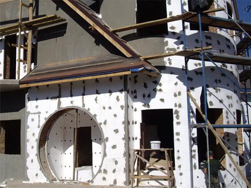 Утепление фасадов пенопластом заделка