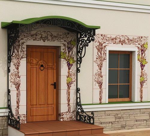 оформление фасада дома 0