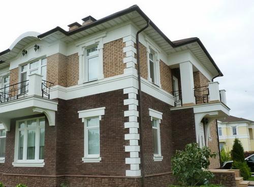 оформление фасада дома плитка