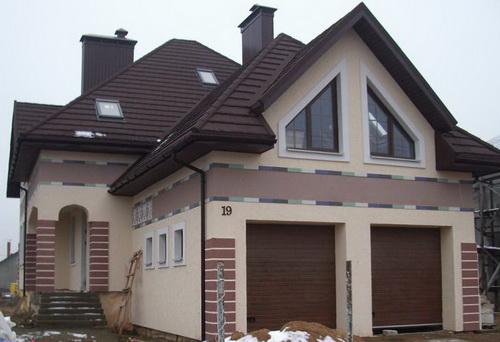 Отделка фасада домов из газобетона