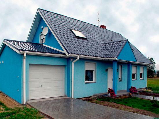 Как сделать фасад дома 1