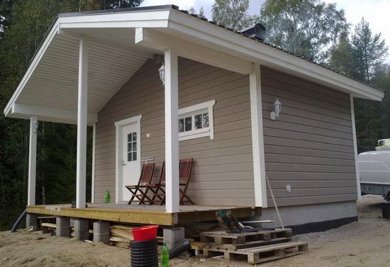 Отделка фасада деревянного дома 1