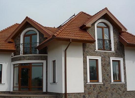 Отделка фасада дома штукатуркой 4