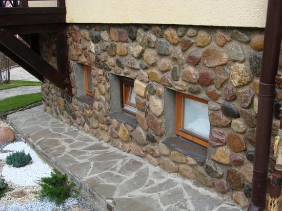 Отделка фасада камнем 4