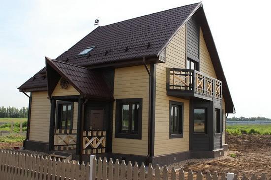Дизайн сайдинга двухэтажного дома