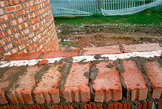 Крепление пенопласта к кирпичной стене 4