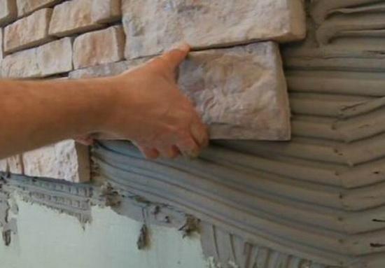 Отделка стен искусственным камнем 5