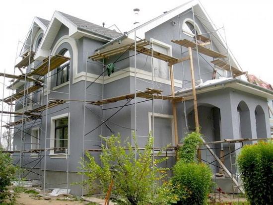 Ремонт фасада частного дома 1