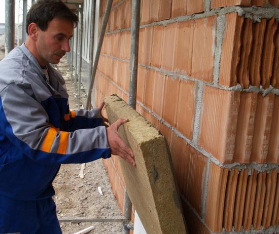 Утепление кирпичных стен дома минватой мокрый фасад