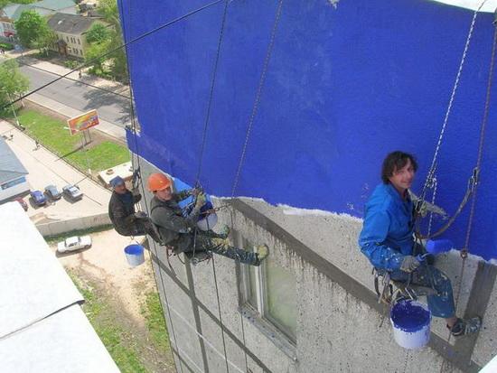 Расход материалов на окраску и штукатурку фасада 5