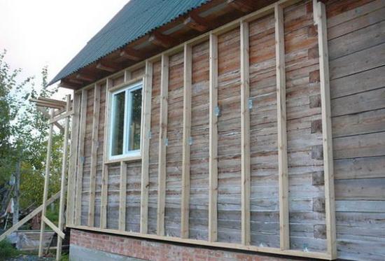 Утепление пенополистиролом стен деревянного дома снаружи 2