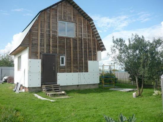 Утепление пенополистиролом стен деревянного дома снаружи 5