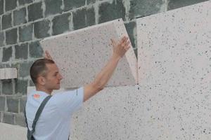 Утепление стен и штукатурка по пенополистиролу 1