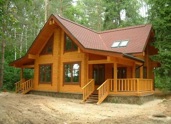 Срубы домов из бруса - недорого строим деревянный загородный дом 2