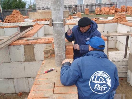 Стоимость кладки кирпича за куб - с материалами и без на строительстве дома 5