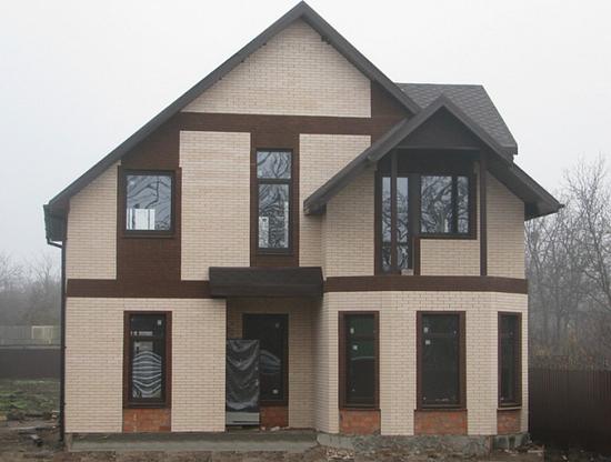 Внешняя отделка каркасного дома – фотографии фасадов 4