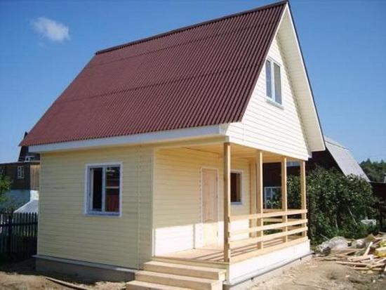 Внешняя отделка каркасного дома – фотографии фасадов 5