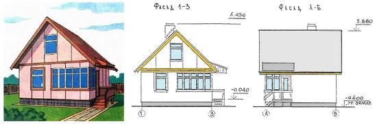 Одноэтажный каркасный дом бесплатные проекты и чертежи 2