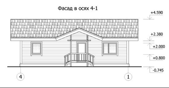 Одноэтажный каркасный дом бесплатные проекты и чертежи 6
