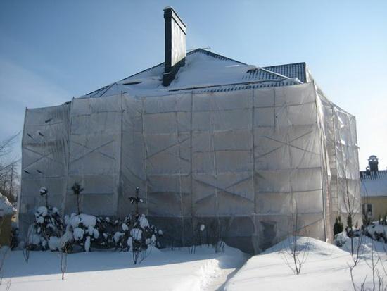 Варианты утепления фасада зимой 2