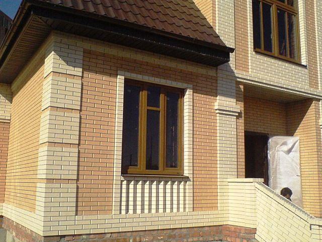 Облицовочный кирпич для фасада - показать варианты отделки 4