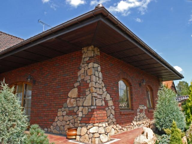 фасад дома фото частных домов из кирпича 4