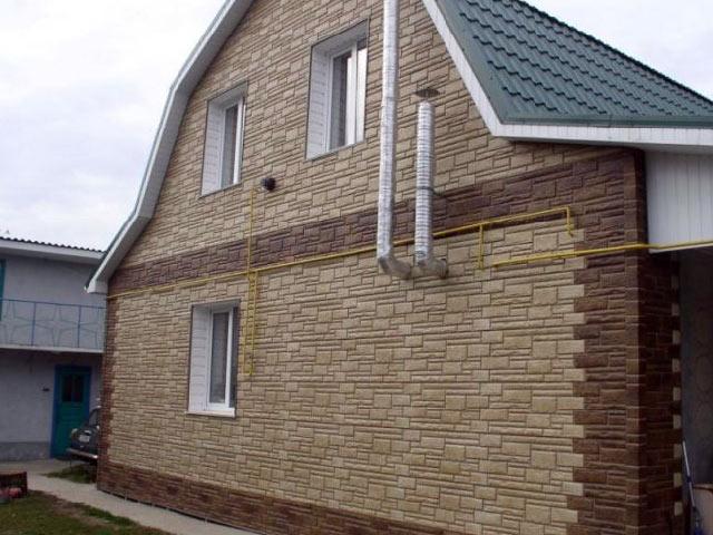 отделка фасада дома панелями под камень фото 4