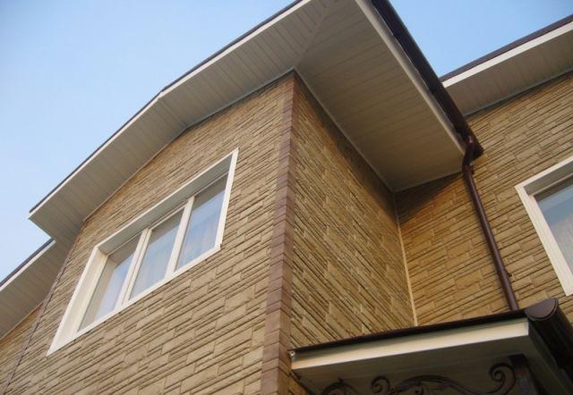 отделка фасада дома панелями под камень фото 6