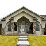 Сочетание цвета крыши и фасада дома на фото