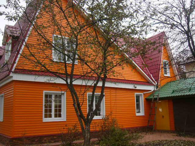 Цветовая гамма сайдинга - образцы обшитых домов в разных цветах 13